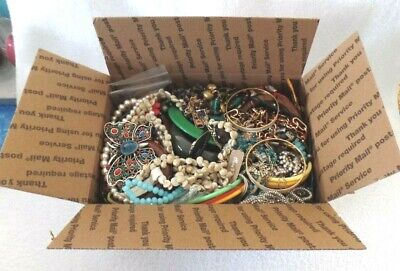$ CDN74.98 • Buy Vintage To Now Mixed Jewelry Lot Wearables Arts And Crafts Cufflinks  10 Lb