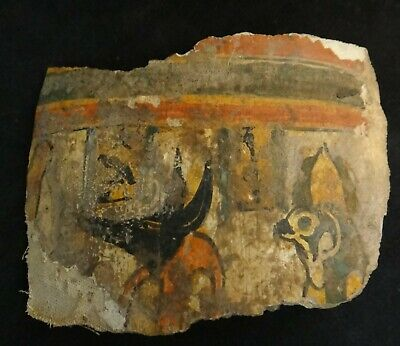 """£536.90 • Buy Ancient Egyptian Sarcophagus Lid Panel Fragment. 2000 + Years Old 4 5/8"""" X 3 ½""""."""