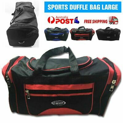 AU24.86 • Buy SPORTS BAG LARGE With Shoulder Strap Gym Duffle Travel Bags Water Resistant