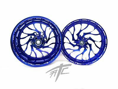 $3199.99 • Buy Gsxr 330 Fat Tire Royal Blue Contrast Hellian Wheels 01-08 Gsxr 1000