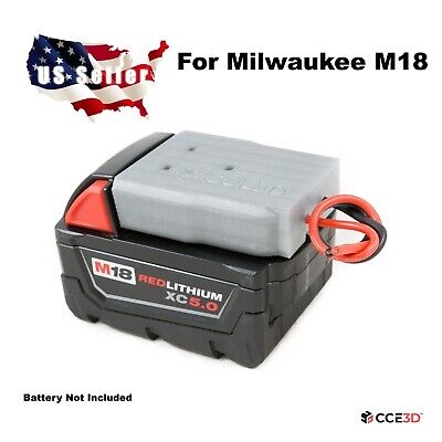 $15.99 • Buy **Milwaukee M18 Battery Adapter Dock With Soft Wires Power Wheels DIY Robotics**