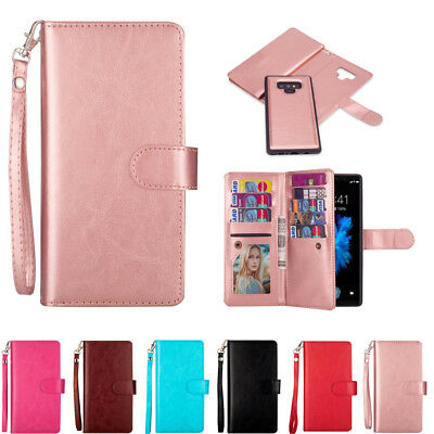 AU17.89 • Buy For Samsung S21Ultra S21 S20 S9 S8 S7 S6 Detachable Magnetic Leather Wallet Case