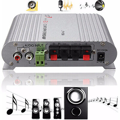 200w Bass Mini Hifi Stereo Amplifier 2.1ch Booster Radio Mp3 For Car Home-bling  • 12.41£