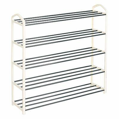 £12.49 • Buy 5 Tier Shoe Rack Stand Storage Organiser Shelves Lightweight Compact Space Save