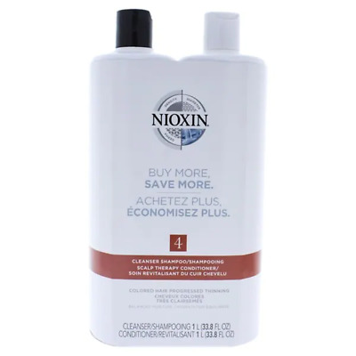 AU49.75 • Buy Nioxin System 4 Cleanser & Scalp Therapy Shampoo & Conditioner 33.8oz Duo