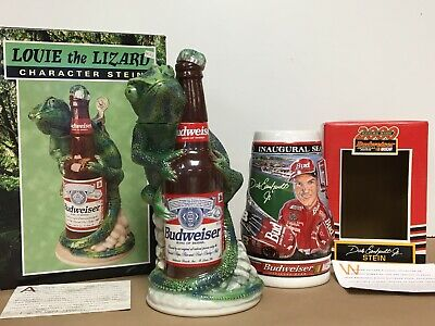 $ CDN123.73 • Buy Vintage Budweiser Louie The Lizard Stein & Dale Earnhardt Jr Inaugural Stein Lot
