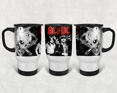 £13.99 • Buy ROCK BANDS COFFEE/TEA 14oz STAINLESS STEEL TRAVEL MUG WHITE OR SILVER