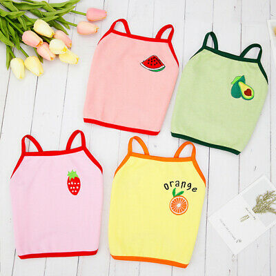 £1.68 • Buy Spring Summer Cat Dog Vest T Shirt Clothes Clothing Cute Fruit For Pet Chihuahua