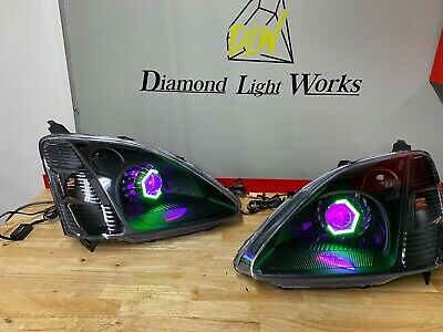 $730 • Buy 02-03 Honda Civic Si Ep3 Custom Retrofit Headlights