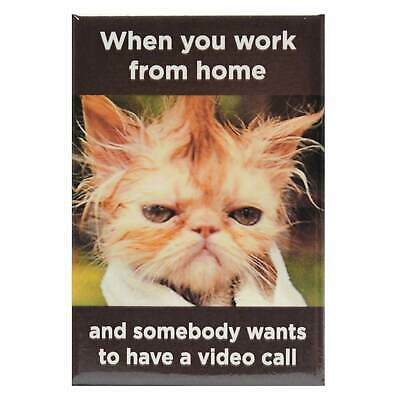AU6 • Buy Work From Home Video Call Fridge Magnet Funny Decor Retro Novelty Gift Humour