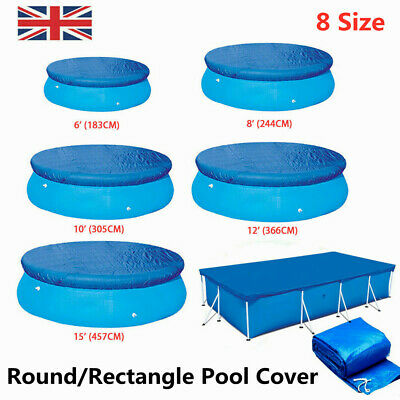 £12.59 • Buy Round Swimming Pool Cover For Outdoor Frame Garden Paddling Pools Cover 9 Sizes