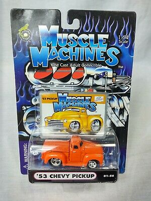AU7.56 • Buy Muscle Machines 1/64 '53 Chevy Pickup 01-56