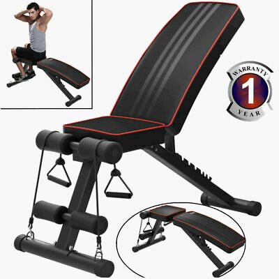 £54.99 • Buy Weight Bench Multi Adjustable Gym Workout Exercise Flat Incline Decline Sit Up