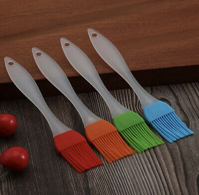 2x Basting Oil Brush Silicone Heat Resistant Pastry Brushes For Grilling Baking. • 2.50£