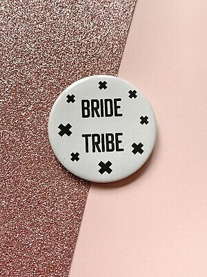 £2.20 • Buy Bride Tribe Badge, Bridesmaid Gift, Hen Do Party Badges, Bride Tribe Gifts