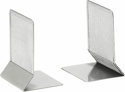 £7.99 • Buy Osco Silver Wire Mesh Home Office Bookends (Pack Of 2) H132 X W105 X D162mm MBE1