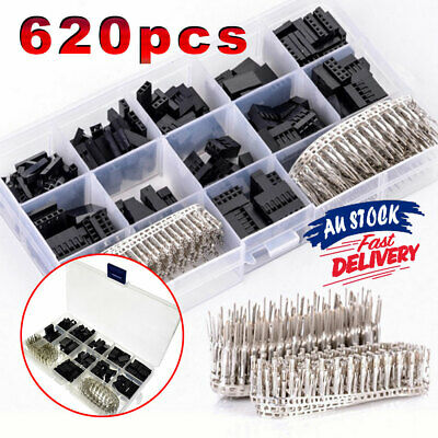 AU13.23 • Buy 620x Male Jumper Pin Crimp Pin Dupont Wire Housing Kit Header Female Connector