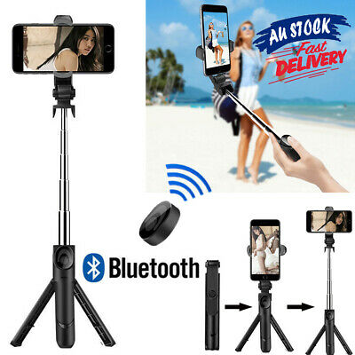 AU13.35 • Buy Bluetooth Selfie Stick Tripod Wireless Rotating 360° Remote For Mobile Phone