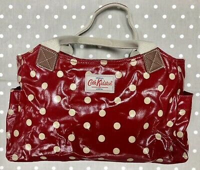 £14.95 • Buy CATH KIDSTON Ladies Red Spotty Oilcloth Tote Bag