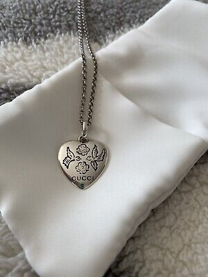 £150 • Buy Genuine Gucci Love Is Blind Sterling Silver Hallmarked Necklace