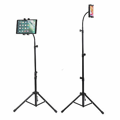 £16.95 • Buy Upgraded Gooseneck Tripod Floor Stand Strong Support Poles Fits 4.7-12.9in IPad