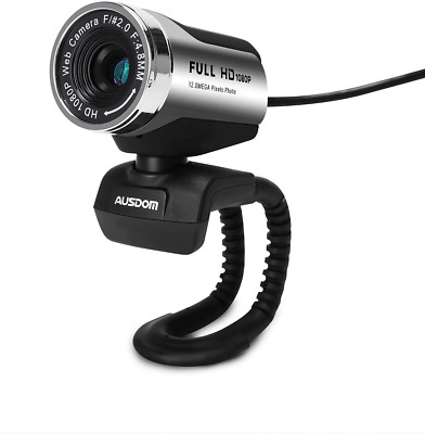 AUSDOM FHD Webcam 1920x1080P, AW615 Computer Cameras With Noise-cancelling USB • 47.13£
