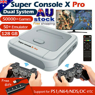 AU121.39 • Buy Super Console X PRO 4K WiFi HDMI TV Box Video Game Console For PS1/N64/DC/NDS AU