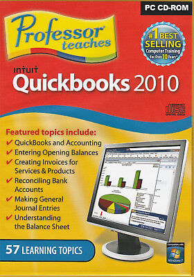 £3.75 • Buy Professor Teaches Quickbooks 2010 (PC) With 57 Learning Topics On CD Windows 10