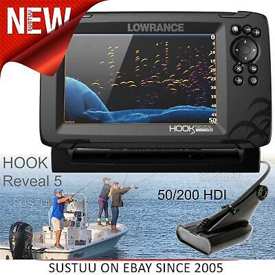 £422.49 • Buy Lowrance Hook Reveal 7 CHIRP Fishfinder/ Chartplotter & 50/200 HDI Transducer