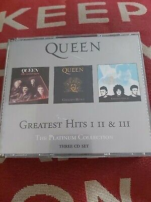 £14.99 • Buy Queen - Greatest Hits, 1,2,3 (3CD) The Platinum Collection