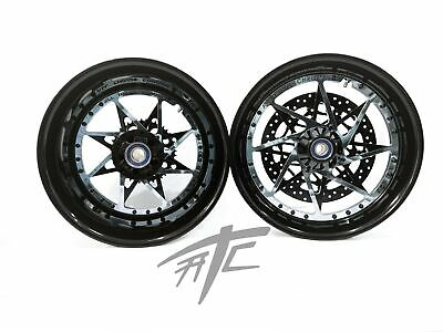 $3099.99 • Buy Gsxr 240 Fat Tire Black & Chrome Switchback Wheels 01-08 Gsxr 1000