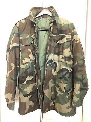 $41.70 • Buy M-65 Woodland Camo Army Military Field Jacket MEDIUM LONG Cold Weather