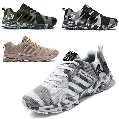 £21.88 • Buy Mens Shoes Absorbing Running Trainers Air Sports Casual Lace Gym Walking Size