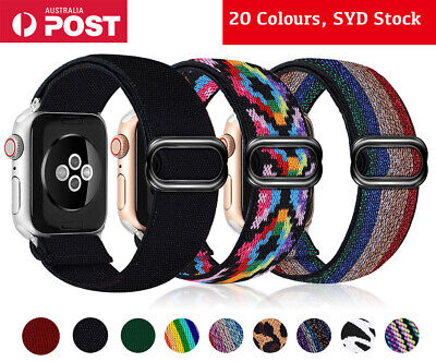 AU9.89 • Buy For Apple Watch Series 6 SE 5 4 3 2 Band Nylon Elastic Strap IWatch 38 40 42 44