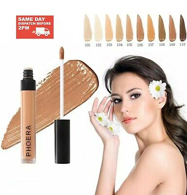 Phoera Full Coverage Concealer Foundation Makeup Matte Liquid Long Lasting UK • 3.15£