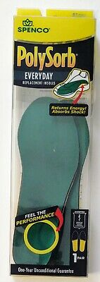 £11.82 • Buy Spenco PolySorb Everyday Replacement Insoles #1 Fits Women's 5-6