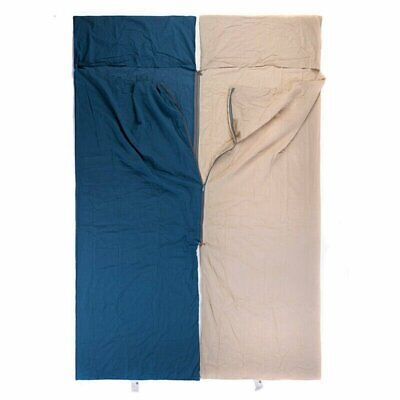 £25.28 • Buy 100% Cotton Sleeping Bag Liner 2 Sizes Single 2.1m Camping Hiking Outdoor Gears