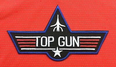 £2.99 • Buy Big Top Gun Us Navy Air Force Pilot Army F-16 Military Badge Iron Sew On Patch