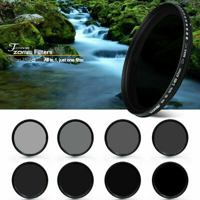 AU31.49 • Buy Zomei Pro Slim ND Filter Neutral Density ND2-400 Filter Variable For DSLR Camera