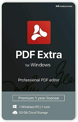 PDF Extra - Professional PDF Editor Edit, Protect, Annotate, Convert Fill & Sign • 24.98£