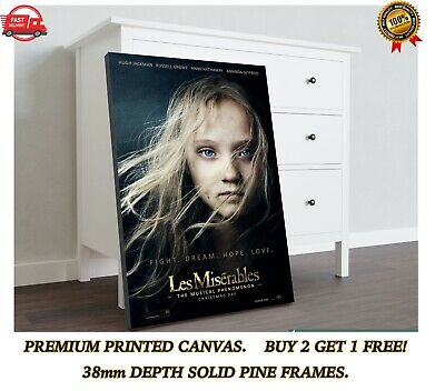 £23.40 • Buy Les Miserables Classic Movie Large CANVAS Art Print Gift A0 A1 A2 A3 A4