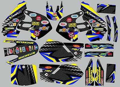 $95.99 • Buy Graphic Kit For Suzuki RM125 RM250 RM 125 250 1999-2000 Decals Carbon Fiber Logo