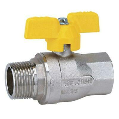 £7.01 • Buy BRASS BSP MALE X FEMALE BALL VALVE - YELLOW BUTTERFLY HANDLE - GAS/WRAS APPROVED