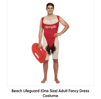 £15 • Buy Fancy Dress Costume Baywatch Lifeguard Mens Fun Stag Do One Size