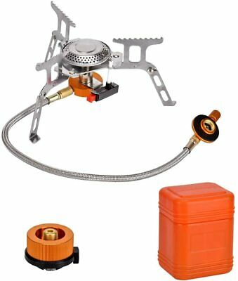 £21.77 • Buy Camping Stove With Piezo Ignition Portable Gas Cooker Compact Lightweight Small