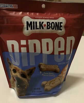$14 • Buy Milk-Bone Dipped Peanut Butter Flavored Coating Biscuits Dog Treats Exp 02/15/22