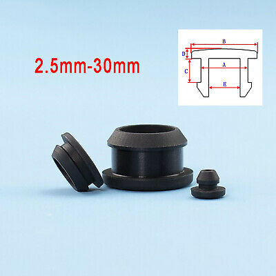 AU19.75 • Buy Snap-on Hole Plugs 2.5-30mm Silicone Rubber Stopper Blanking Pipe End Caps Black