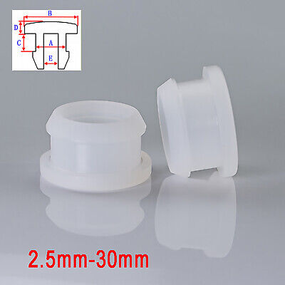 AU19.75 • Buy Snap-on Hole Plugs 2.5-30mm Silicone Rubber Stopper Blanking Pipe End Caps Clear