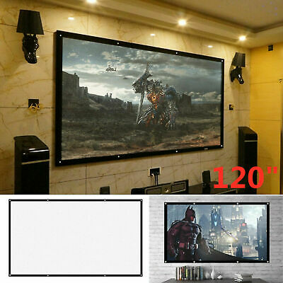 £7.59 • Buy 120 Inch Projector Projection Screen 16:9 Matte HD Home Outdoor Cinema Theater