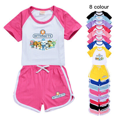£9.99 • Buy The Octonauts Kids T Shirt Top Shorts Trousers Casual Girls Sports Tracksuit Set